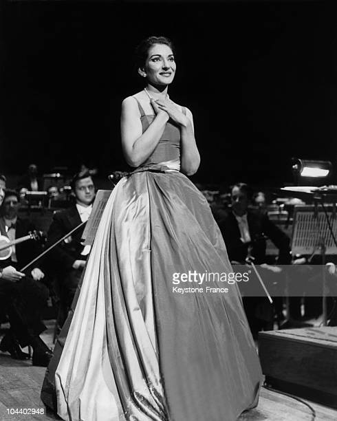 A photograph of Maria CALLAS's first concert at London's Royal Festival Hall