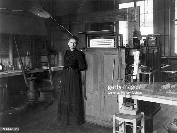 Photograph of Marie SklodowskaCurie Polish and naturalisedFrench physicist and chemist who conducted pioneering research on radioactivity She was the...