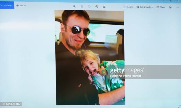 Photograph of Marissa Kennedy with her uncle Steven Kennedy is shown on a monitor in the courtroom during the sentencing hearing for Sharon Carrillo,...