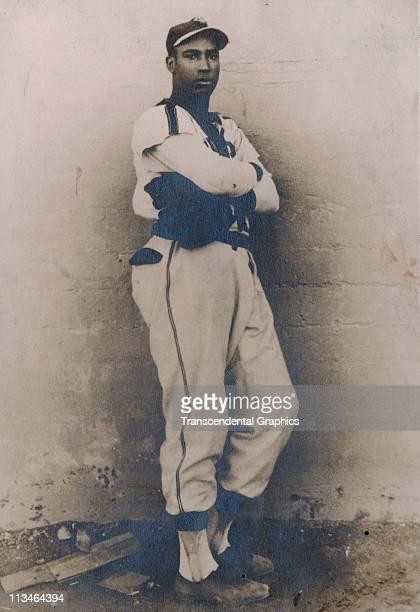 Photograph of Martin Dihigo in the uniform of an industrial league team circa 1925 in Havana, Cuba.