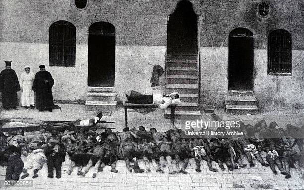 Photograph of massacred Armenians killed by Ottoman soldiers in Aleppo Dated 20th Century