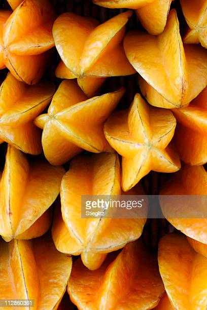 Photograph of multiple starfruit