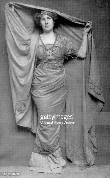Photograph of Nancy Price an English actress in her role of 'Calpurnia' in Julius Caesar Dated 19th Century