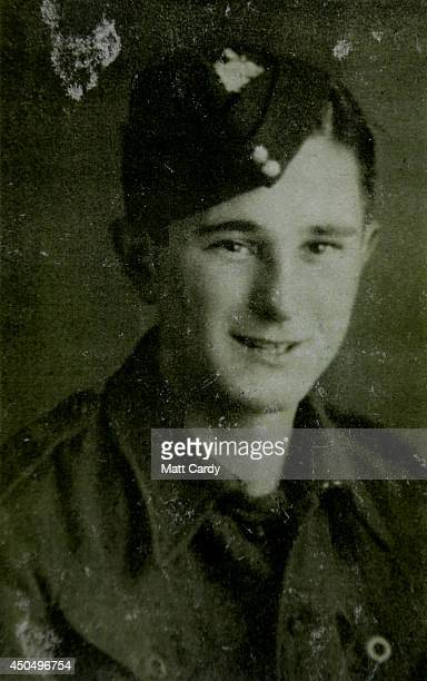 A 1944 photograph of Normany veteran 88yearold Frank Rosier is seen at the DDay Museum at Southsea seafront on April 10 2014 in Portsmouth England On...