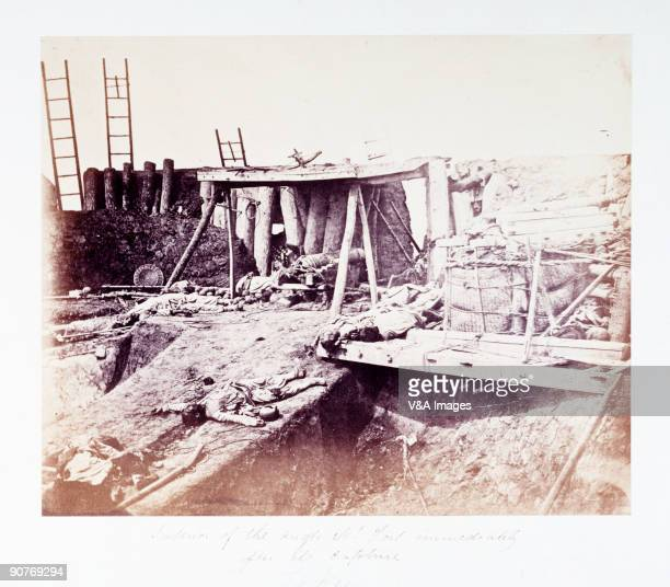 CHINA JANUARY 11 Photograph of North Taku Fort during the Second Opium War 18561860 by Felice Beato One of the first war photographers Venetianborn...