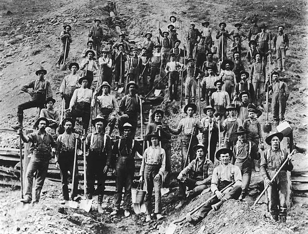 A Photograph of Oil Pipeline Workers/Ditch Diggers...