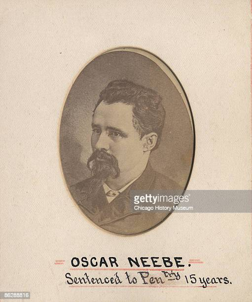 Photograph of Oscar Neebe labor activist and anarchist arrested after the Haymarket riots Chicago ca1886 He was sentenced to fifteen years in prison