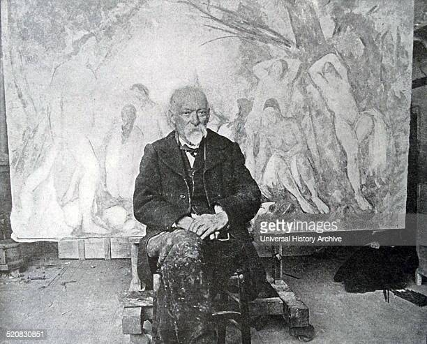 Photograph of Paul Cézanne French artist and PostImpressionist painter Dated 1905