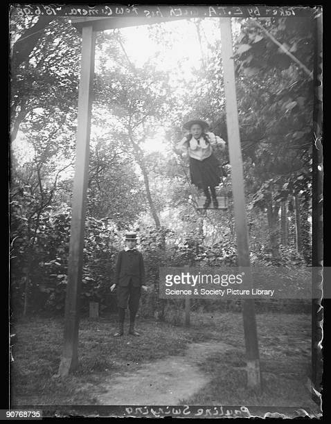 A photograph of Pauline Adams playing on a swing in the family garden taken by her father Edgar Tarry Adams on 18 June 1898 Edgar Tarry Adams was a...