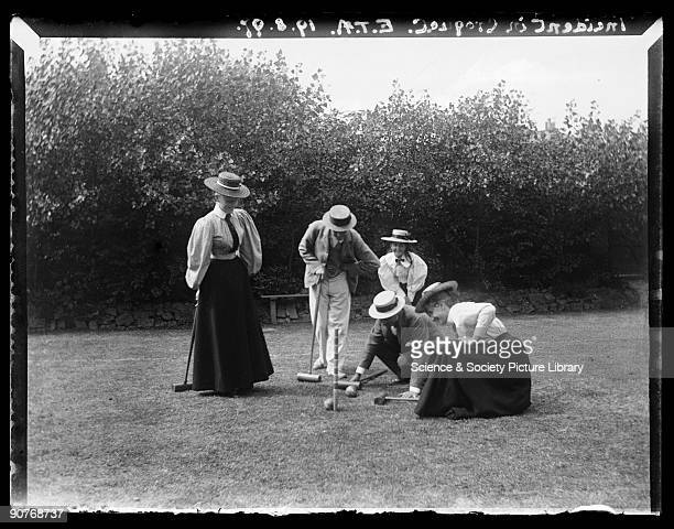 A photograph of people playing croquet taken by Edgar Tarry Adams on 19 August 1897 This photograph was probably taken on the lawn of the Adams'...