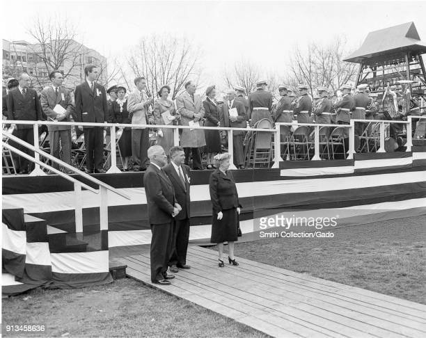 Photograph of President Harry S Truman at Carillon Ceremony Washington DC United States April 4 1952 Image courtesy National Archives