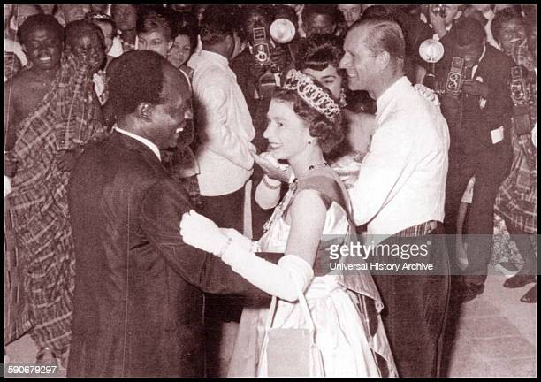 Photograph of President Kwame Nkrumah and Queen Elizabeth. Dated 1961.