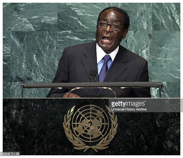 Photograph of President Robert Gabriel Mugabe of Zimbabwe Leader of the Zimbabwe African National UnionPatriotic Front Dated 2014