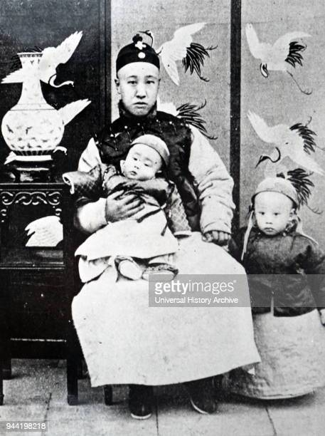 Photograph of Puyi the last Emperor of China and the twelfth and final ruler of the Qing dynasty Dated 20th century