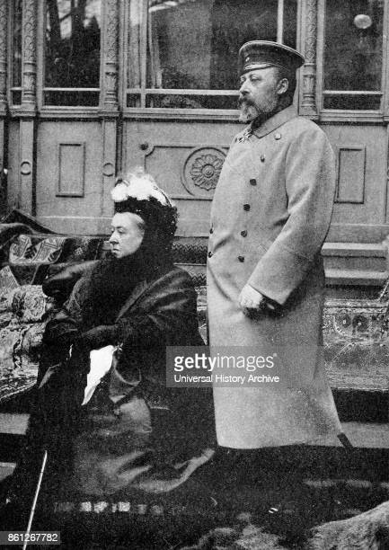 Photograph of Queen Victoria with her son Edward VII of the United Kingdom Dated 20th Century