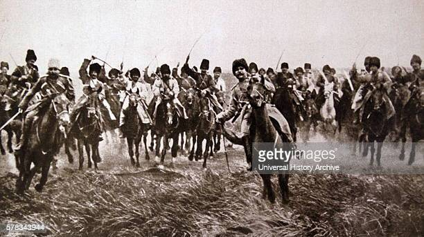 Photograph of Russian Cossacks during The Great War The Cossacks became known as members of democratic selfgoverning semimilitary communities Dated...