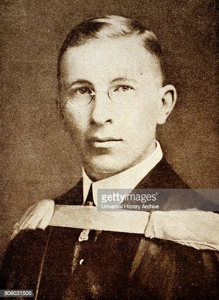 Photograph of Sir Frederick Banting a Canadian medical scientist doctor painter and Nobel laureate He is best known as the first person to use...