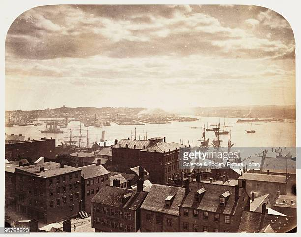 A photograph of St John's New Brunswick Canada looking across the Bay of Fundy taken by William McFarlane Notman during the Royal Visit to Canada of...