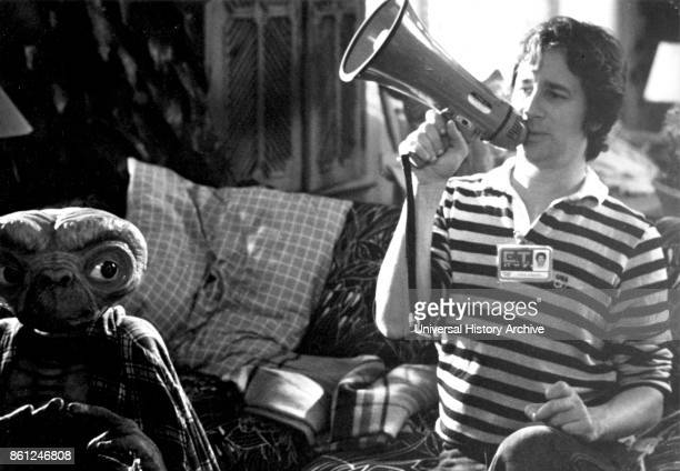 Photograph of Steven Spielberg an American director producer and screenwriter during the filming of ET the ExtraTerrestrial Dated 20th Century