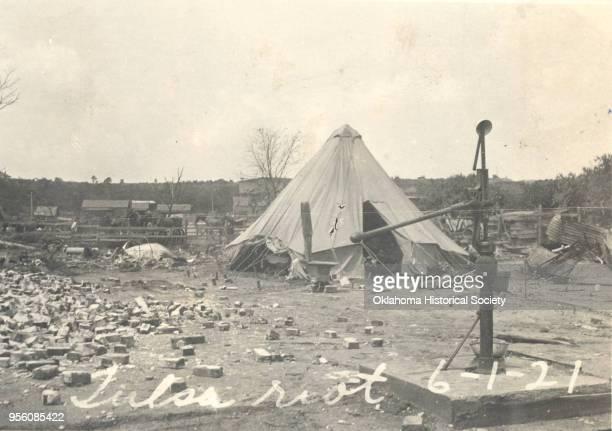 Photograph of tent home after the Tulsa Race Riot Tulsa Oklahoma June 1921