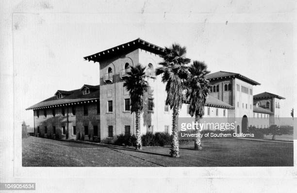 Photograph of the administration building of the Union Stock Yards This print created for JR Anderson Display Department June 1926Streetscape...