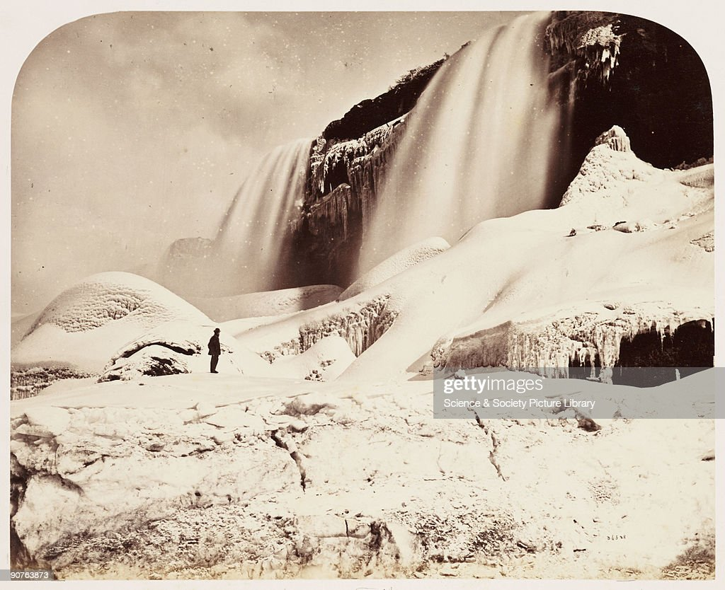 A photograph of the American Falls at Niagara, taken by William McFarlane Notman (1826-1891) in 1860, during the Royal Visit to Canada of Albert, Prince of Wales, the future Edward VII (1841-1910). William McFarlane Notman was born in Scotland but emigrated to Canada in 1856. He opened a photographic studio in Montreal and later established a successful chain of studios across Canada with branches in Toronto, Ottawa and Halifax. Notman was the official Canadian photographer to Queen Victoria (1819-1901). His work forms an unrivalled record of nineteenth cantury Canadian life, including portraits, landscapes and elaborate studio-based genre scenes of Native Amerians, hunters and trappers.