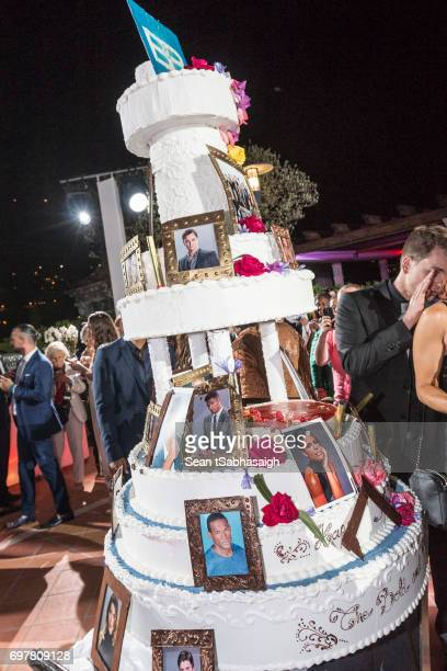 A photograph of the anniversary cake at the 'The Bold and The Beautiful' 30th Anniversary Party during the 57th Monte Carlo TV Festival Day 3 on June...