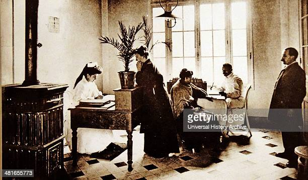 1900 photograph of the antituberculosis clinic at the Hospital Beaujon in Paris France