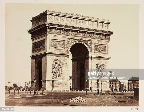 A photograph of the Arc de Triomphe Paris taken by EdouardDenis Baldus in about 1865 The Arch was commissioned by Napoleon in 1806 but not finished...