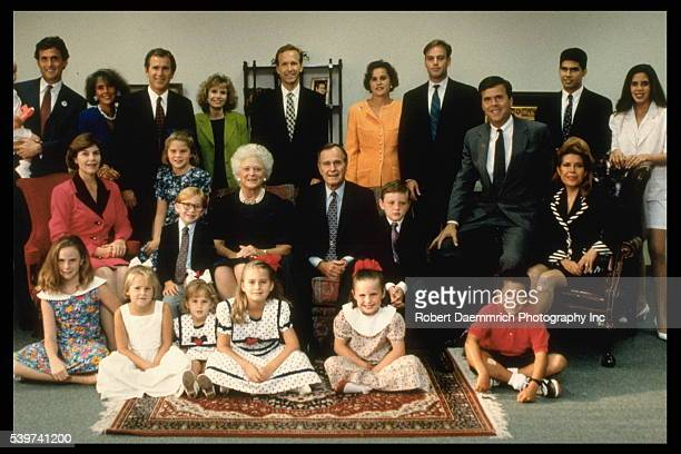 Photograph of the Bush family