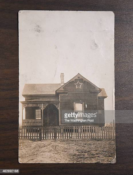 A photograph of the childhood home of Rosa Parks that is part of a Rosa Parks archive is seen during a press event at the Library of Congress James...
