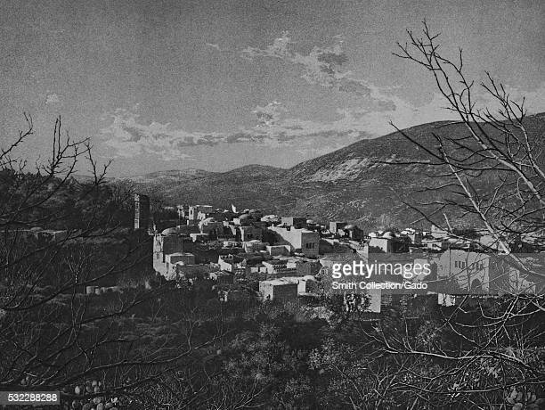 Photograph of the city of Nablus taken from a hill side, the city is a center for Palestinian culture and commerce, it is home to the An-Najah...