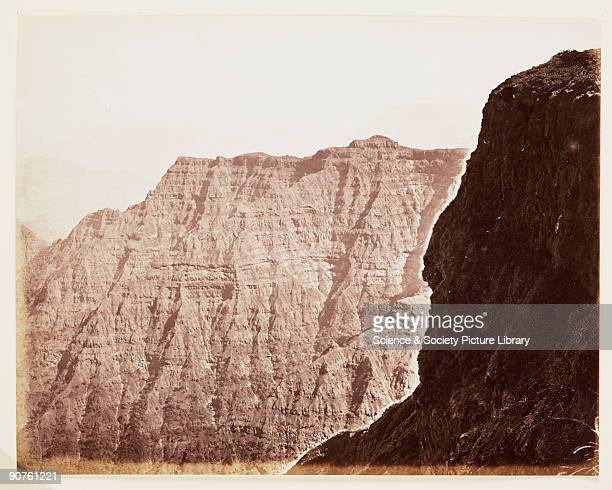 A photograph of the cliffs at Mahabaleshwar India taken by Samuel Bourne Mahabaleshwar is the highest hill station in the Western Ghats It is a...