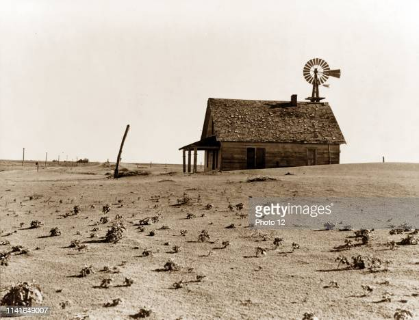 Photograph of the Coldwater District, north of Dalhart, Texas. This house is occupied; most of the houses in this district have been abandoned by...