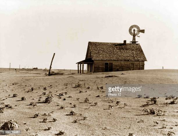 Photograph of the Coldwater District, north of Dalhart, Texas. This house is occupied, most of the houses in this district have been abandoned by...