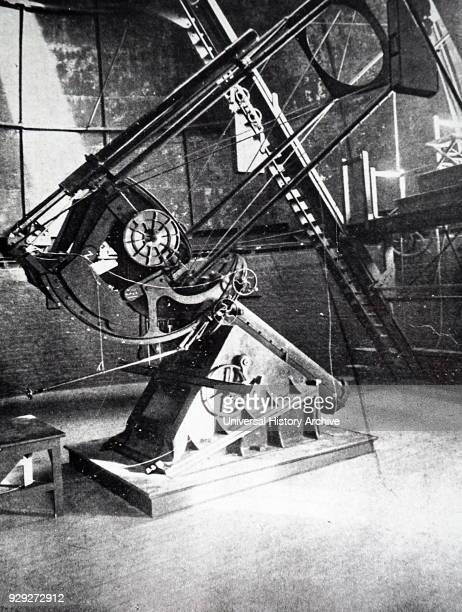 Photograph of the Crossley telescope a 36inch reflecting telescope located at Lick Observatory California given to the observatory in 1895 by British...