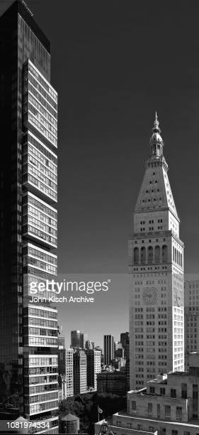 Photograph of the eastern facade of One Madison and the Metropolitan Life Insurance Company Tower New York New York 2018