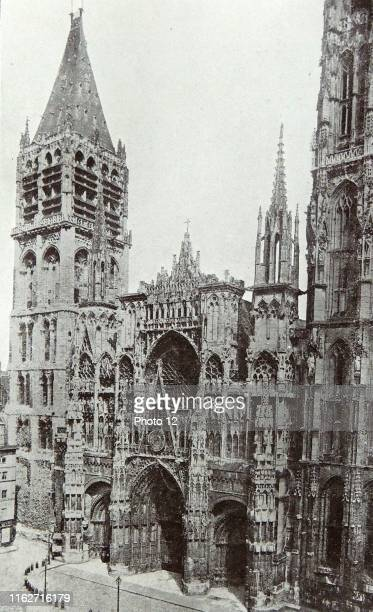 Photograph of the exterior of the Cathedral of Rouen It was the seat of the Archdiocese of Rouen and where the coronations of the Kings of France...