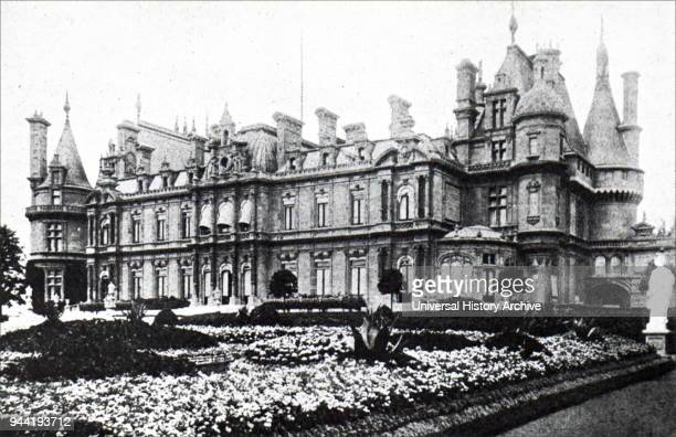 Photograph of the exterior of Waddesdon Manor a country house in the Village of Waddesdon Buckinghamshire England Home to the Rothschild family Dated...