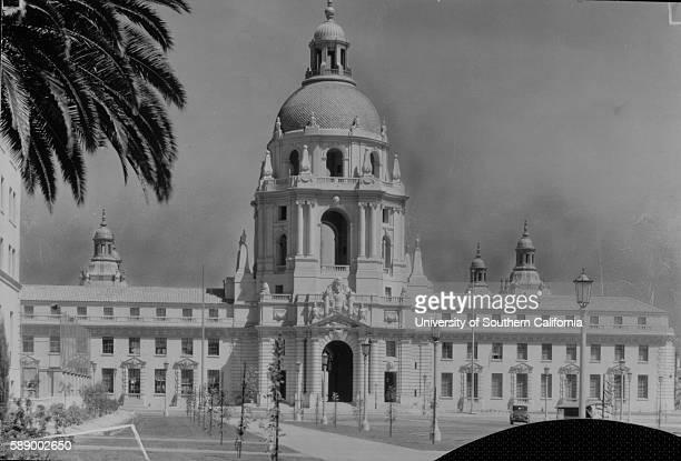 Photograph of the facade of the Pasadena City Hall Pasadena California March 22 1930