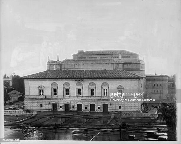 Photograph of the first photo of Pasadena's Civic Auditorium, Pasadena, California, 1921.