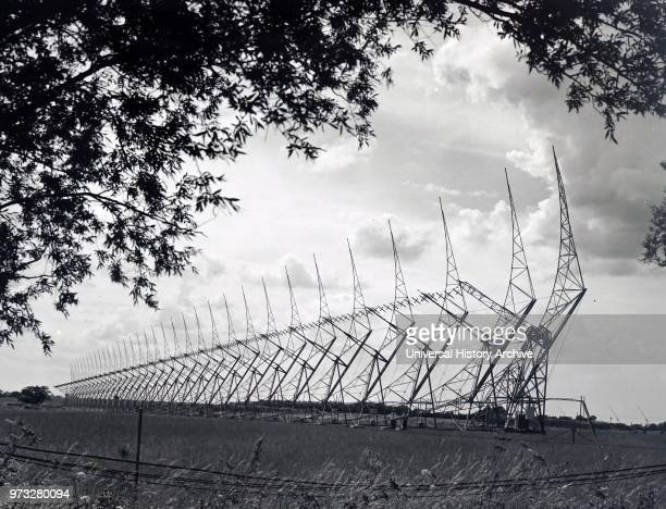 Photograph of the fixed aerials at the Mullard Radio Astronomy Observatory Cambridge Dated 20th century