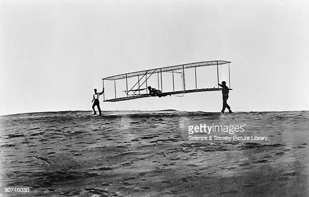 Photograph of the glider being launched Orville Wright and his brother Wilbur were selftaught American aeroplane pioneers They carried out extensive...