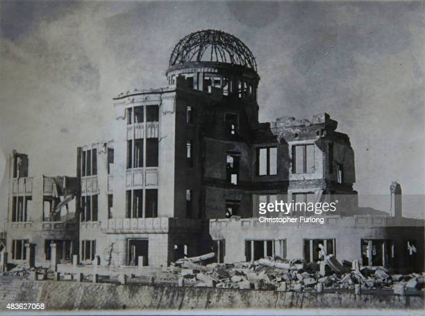 FEATURE** A photograph of The Hiroshima ABomb Dome where WWII veteran Ken Watson now aged 89 served during the war August 6 2015 in Kingston Upon...