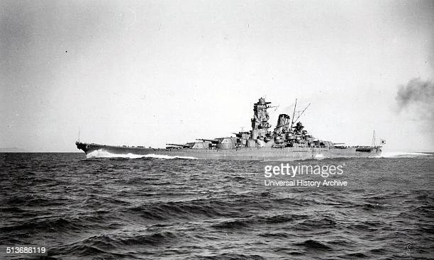 Photograph of the IJN Yamato the lead ship of the Yamato class of battleships that served with the Imperial Japanese Navy during World War II Dated...