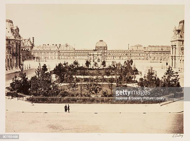 A photograph of the Jardin du Carrousel Paris taken by EdouardDenis Baldus in about 1865 Seen here are the walkways of the Carrousel Gardens with the...