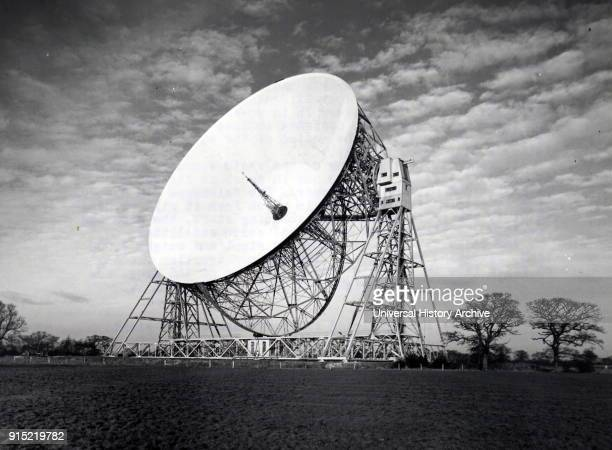 Photograph of the Jodrell Bank Radio Telescope at Jodrell Bank University of Manchester Dated 20th century
