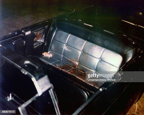 Photograph of the Kennedy limousine after assasination Dallas Dated 1963