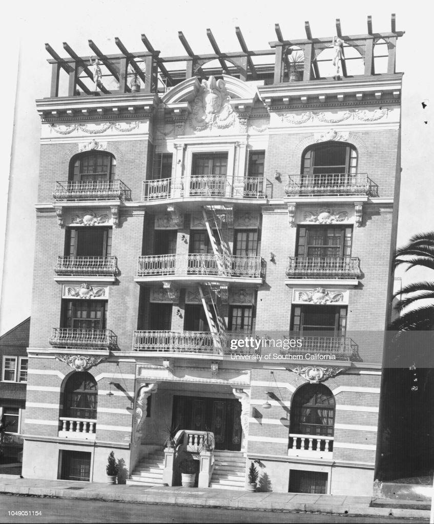 La France Apartments 681 Burlington Ave Los Angeles 1917 News Photo