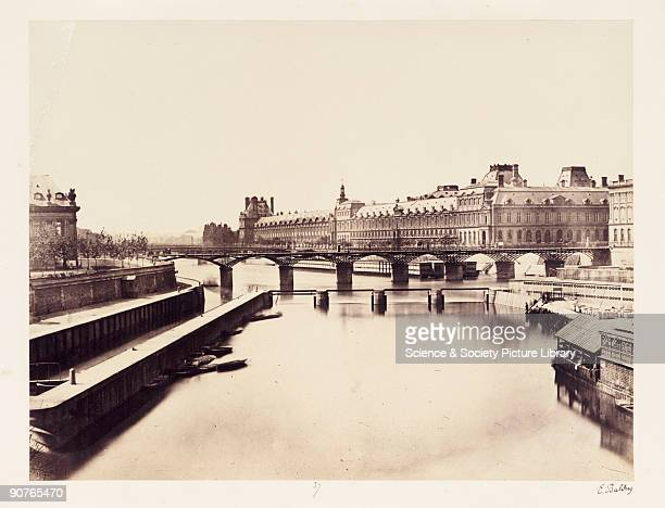 A photograph of the Louvre and the River Seine Paris taken by EdouardDenis Baldus in about 1865 The Louvre is situated on the right bank of the river...